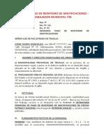 DEMANDA PAGO DE REINTEGRO DE GRATIFICACIONES