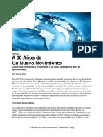 A 30 años  de un Movimiento- Daniel Diaz