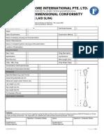 FOI-ISD-REP0001 Rev 00 - Certificate of Dimensional Conformity Flemish Lock