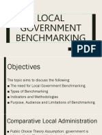 LOCAL GOVERNMENT BENCHMARKING