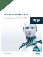 ESET Secure Authentication Custom Integration via the SDK and API.pdf