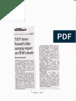 Manila Standard, Jan. 14, 2020, TUCP slams Kuwait's fake autopsy report on OFW's death.pdf