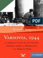Varsovia 1944 - Norman Davies