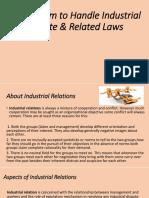 Mechanism to Handle Industrial Disputes  Relared laws (2)