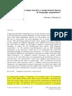tomasello_2000_usage based theory of language acquistion