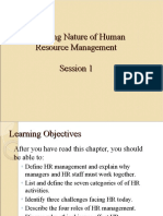 (1)Changing Nature of Human Resource Managemen