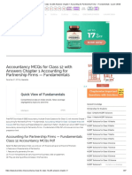 Accountancy MCQs for Class 12 with Answers Chapter 1 Accounting for Partnership Firms — Fundamentals - Learn CBSE