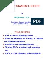 Board of standing orders