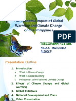 The Economic impact of Global warming and Climate Change in the Philippines