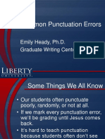 Common Punctuation Errors.ppt