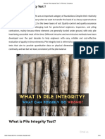 What is Pile Integrity Test