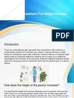 Ayurvedic Treatment for Height Increase
