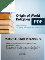 ITWR - LESSON 2 - Origin of World Religions