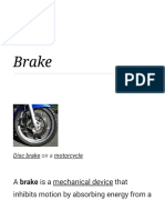 Brake - project and non abs