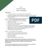 I YearMSc Clinical Psychology