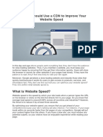Improve Your Website Speed