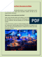 Best Party Decorators in Dallas | affinitycelebrations