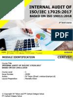 Internal Audit ISO 17025