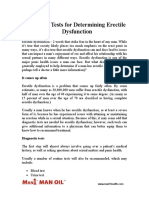 Diagnostic Tests for Determining Erectile Dysfunction
