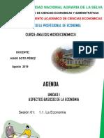Sesión 01 Aspectos Básicos de la economía