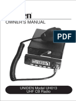 UH013 Owners Manual