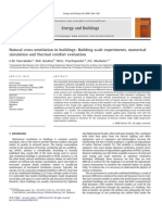 Natural Cross-Ventilation in Buildings_ Building-Scale Experiments, Numerical Simulation and Thermal Comfort Evaluation