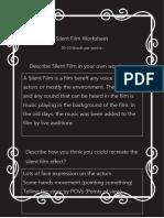 silent film worksheet