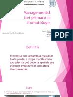 Managementul preventiei primare in stomatologie