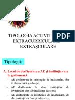 Curs 4_tipologia Activitatilor Extracurriculare