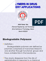 Polymers in drug Delivery applications 2014