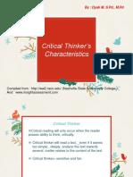 Critical Thinker_s Characteristics