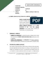 Medida Cautelar Fuera Del Proceso - Angela Valerin Baldeon Aquino