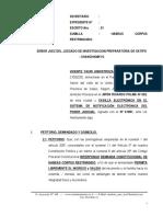Habeas Corpus - Vicente Yauri Hinostroza - Restringido