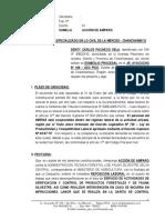 Accion de Amparo - Inrena - Denty Carlos Pacheco Vela