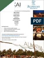 Job Advert 2019 - Alimatha - 14 01 20