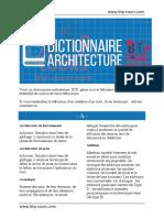 Dictionnaire architecture