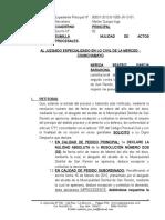 Nulidad de Actos Procesales - Nerida Garcia Barahona