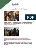 Raízes Hebraicas da Fé- Deuteronômio 13 X yeshua