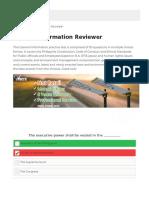 General Information Reviewer | TOPNOTCHER PH