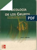 1 - EL MARCO DE REFERENCIA DE LA PSICOLOGIA DE LOS GRUPOS- SANCHEZ