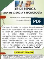 REPLICA TALLER CIENCIA Y TECNOLOGIA julio 2019