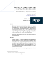 Amarildo Malvezzi - Teoria Estética de Adorno como uma Dialética Negativa do Gosto
