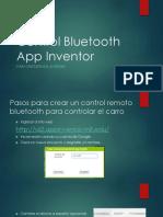 Control Bluetooth App Inventor
