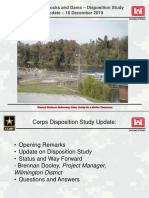 Cape Fear Locks and Dams Disposition Study - Update for Stakeholders
