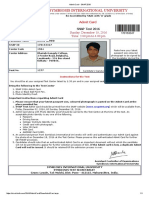 Admit Card - SNAP 2016