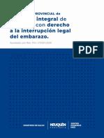 Protocolo provincial de atención integral de personas con derecho a la interrupción legal del embarazo
