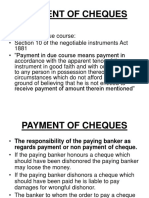 PAYMENTOFCHEQUES