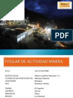 Accidente fatal en la mina