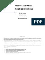 PLAN OPERATIVO ANUAL COMISION DE SEGURIDAD