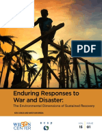 Enduring Responses to War and Disaster